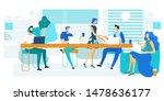 lunch break  rest time flat...   Shutterstock .eps vector #1478636177
