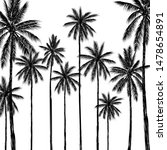 tropical palm tree on white... | Shutterstock .eps vector #1478654891