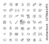 thin lines web icons set  ... | Shutterstock .eps vector #1478661491