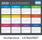 vector template of color 2020... | Shutterstock .eps vector #1478669807