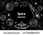 hand drawn space vector... | Shutterstock .eps vector #1478688494