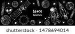 hand drawn space vector... | Shutterstock .eps vector #1478694014