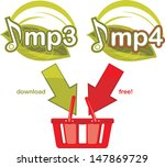 mp3 and mp4 download free. icon ...