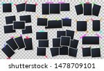 photos on color adhesive tapes. ... | Shutterstock .eps vector #1478709101