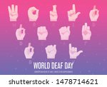 world deaf day poster with hand ... | Shutterstock .eps vector #1478714621