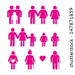 family icons. vectorial image... | Shutterstock .eps vector #147871859