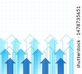 up arrows graph with copy space ... | Shutterstock .eps vector #1478735651