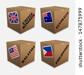 flags on the box    Shutterstock .eps vector #147875999