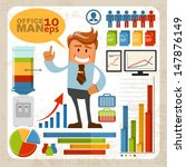 analysis,board,business,businessman,cartoon,character,chart,coffee,coffee cup,color,copy,diagram,drawing,explaining,finance