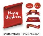 merry christmas scroll red.... | Shutterstock .eps vector #1478767364