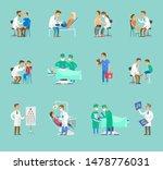 group of doctors raster banner... | Shutterstock . vector #1478776031