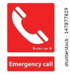 emergency call sign    Shutterstock .eps vector #147877829