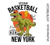 cool dude t rex tyrannosaurus...   Shutterstock .eps vector #1478788124