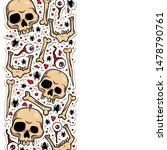 vector creepy pattern with... | Shutterstock .eps vector #1478790761