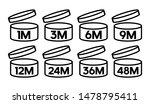 cosmetic open month life shelf | Shutterstock .eps vector #1478795411