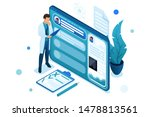 doctor looks at the patient's... | Shutterstock .eps vector #1478813561