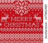 merry christmas  scandinavian... | Shutterstock .eps vector #147882485