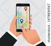 flat gps navigation in the... | Shutterstock .eps vector #1478834567