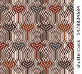 ethnic seamless surface pattern.... | Shutterstock .eps vector #1478834684