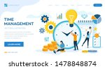 time management planning ...   Shutterstock .eps vector #1478848874