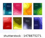 set of 8 backgrounds with... | Shutterstock .eps vector #1478875271