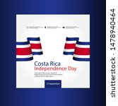 costa rica independence day... | Shutterstock .eps vector #1478940464