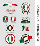 made in italy  seals  flags | Shutterstock .eps vector #147895904