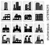 set of various buildings....   Shutterstock . vector #147898295