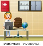 female doctor is in the medical ... | Shutterstock .eps vector #1479007961