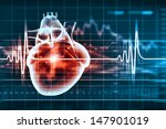 virtual image of human heart... | Shutterstock . vector #147901019