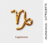 capricorn golden zodiac sign on ... | Shutterstock .eps vector #1479018974