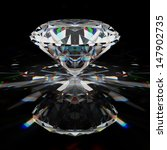 brilliant diamond on black... | Shutterstock . vector #147902735