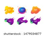 bright abstract badges set.... | Shutterstock .eps vector #1479034877