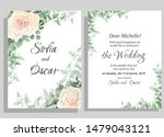 wedding invitation template.... | Shutterstock .eps vector #1479043121
