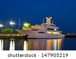 Luxury Yacht In The Port At...