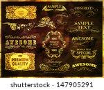 retro vintage calligraphic...   Shutterstock .eps vector #147905291