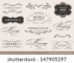 calligraphic design elements... | Shutterstock .eps vector #147905297