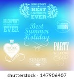elements for summer holidays ... | Shutterstock .eps vector #147906407