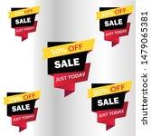 vector sale banner template... | Shutterstock .eps vector #1479065381