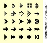 arrow icon set. 25 elements. | Shutterstock .eps vector #147908687