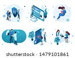 set of isometric concepts for... | Shutterstock .eps vector #1479101861