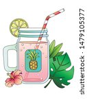 mason jar. mason's bottle of... | Shutterstock .eps vector #1479105377