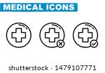medical icon line icons  sign... | Shutterstock .eps vector #1479107771