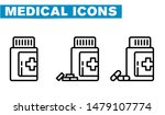 medical icon line icons  sign... | Shutterstock .eps vector #1479107774