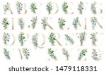Floral Alphabet  Letters With...