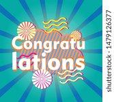congratulations  beautiful... | Shutterstock .eps vector #1479126377