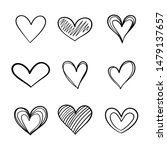 heart hand drawn icons set... | Shutterstock .eps vector #1479137657