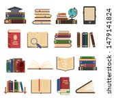 flat book icons. library books  ... | Shutterstock .eps vector #1479141824