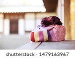 Stock photo celebration image of korea traditional gift box and lucky bag 1479163967