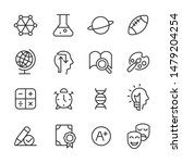 education   line icons   vector ... | Shutterstock .eps vector #1479204254